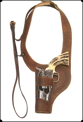 Hey LEFTY Shoulder Holster Copied from Al Furstnow's Sheriff's Lightning rig  3