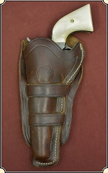 Z-Sold Left Hand - Double Loop Holster for 4 3/4 or 5 1/2 inch barrel for 1873 Colt