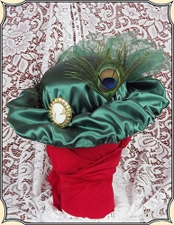 Ladies Small Green Hat