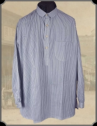 Shirt - Frontier Old West Shirt in Blue Stripe