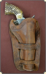 Cheyenne Holster with border stamping 4 3/4,  5-1/2 inch barrel.
