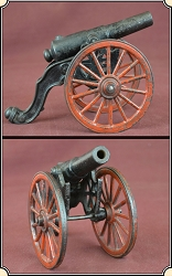 Antique Old US Copper Cast Iron Black Powder Signal Cannon