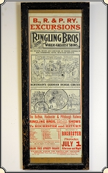 Ringling Bros Circus Poster - Framed