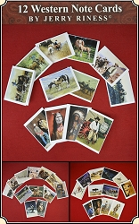 Set of 12 Western Note Cards by artist Jerry Riness