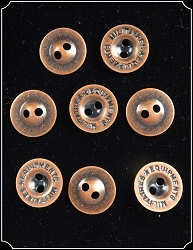 Button - Copper Military Buttons Pk of 8 5/8 inch
