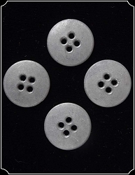 Buttons ~ 5/8 inch Pewter Buttons Pack of 4
