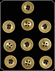 Buttons ~ Brass Military Buttons 5/8 10Pk
