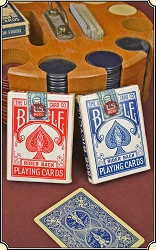z Sold 2 Vintage Decks of Bicycle Rider Back Playing Cards with tax stamp