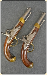 z-Sold Pair of Civil War French Pistols Use by the Confederacy