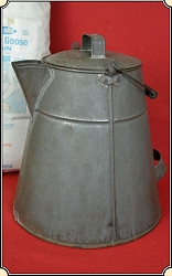 Coffee Pot - 4 1/2 Gallons - BIG BIG BIG Cowboy  Copper Bottom Tin coffee pot