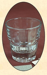 Saloon - Set of 6 - Three Fingers Whiskey Glasses - 4 oz.