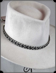 Horse Hair Hat Band Black and White