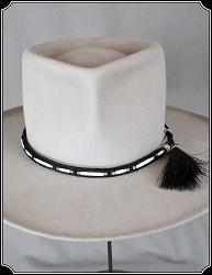 Bone Beaded Horse Hair Hatband