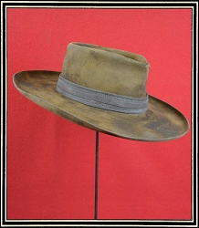 Close Out Hat - 10X quality hat size 7 Pre-Styled and distressed hat with leather hatband