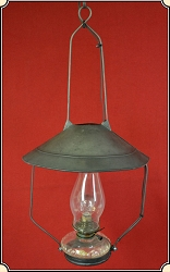 Electric Lamp - Hanging Tin Shaded Saloon Lamp