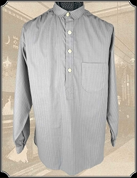 Grey Stripe Frontier Shirt Heirloom Brand