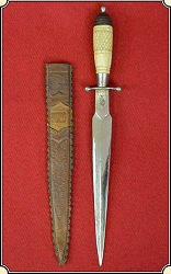 Great bone handled Mexican Dagger with sheath