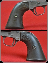 z Sold Antique Original Colt S A A  1st Gen Gutta Percha Grips RJT#5591