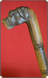 DOGS HEAD Folk Art Cane