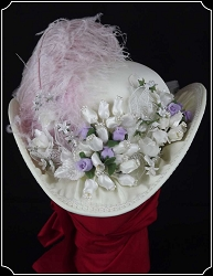 Ladies Ivory Victorian Hat