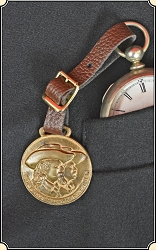 Antique Original Buffalo Bill & Pawnee Bill Watch Fob