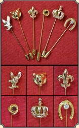 Set of 6 Stick Pins