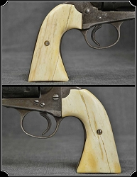 Grips ~ Hand made Bone Colt Bisley two piece Grips RJT#5698
