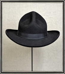 Close Out Hat - quality wool felt hat size 7 5/8  custom  Doc Adams Styled hat