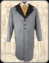 Coat - Santa Fe Frock Coat Charcoal size 42 Only