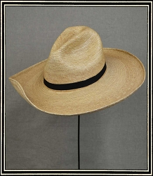 Close Out Hat - Straw hat size XL Hand styled hat