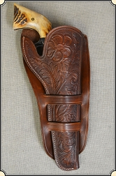Hand tooled Holster - Mexican Double Loop Holster Copied from original in the River Junction Collection