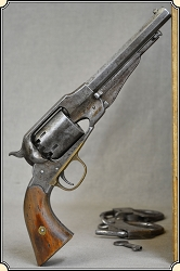 (Make Offer) Antiqued and Defarbed 1858 Remington revolver.
