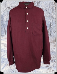 Wool Frontier Cowboy Shirt Wine Size XL