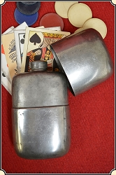Flask, vintage pewter by James Dixon & Sons of Sheffield
