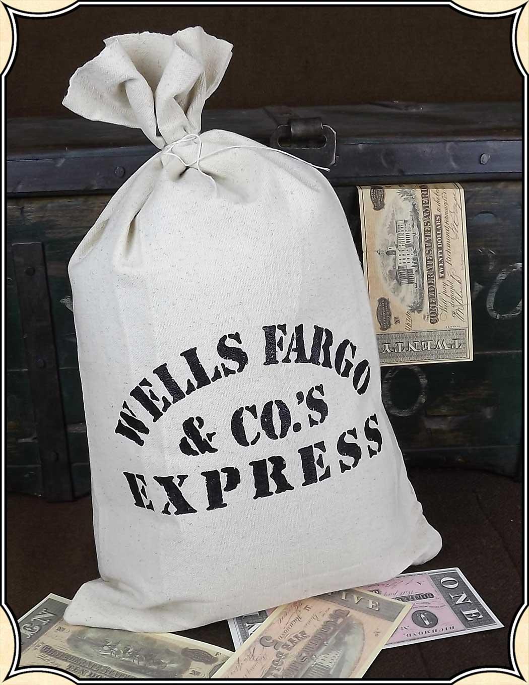 Wells Fargo Money Bag