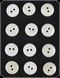 Buttons ~ 12 Buttons - Natural Bone Buttons