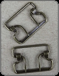 Buckle - Two tine brass 1 1/4 inch buckles. 6 or 12 pack