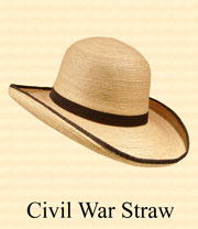 Civil War Staw Hat