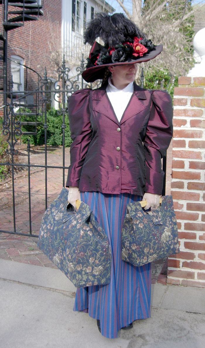 Old World Victorian Tapestry Bag