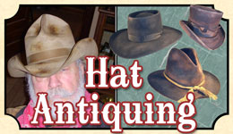 Hat Antiquing or Distressing