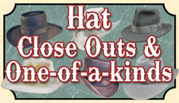 Hat Close Outs / One Of A Kind Styles