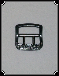 Gray metal Vest buckle 12 pack  - 3/4