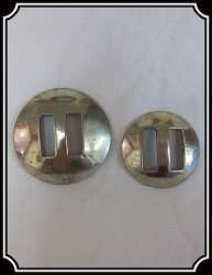 Concho - Plain Stainless steel slotted conchos