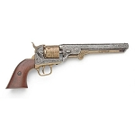 Non- firing pistol - M1851 Navy Engraved Gold and Nickel