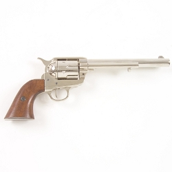 Non- firing pistol - M1873 Old West Revolver Nickel Finish 7 in.