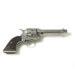 Non-firing -1873 Old West Revolver Gray- 5.5 inch
