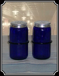 Cobalt Blue Hoosier Salt and Pepper set