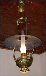 Lamp - Tin Shade Hanging - Electric