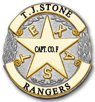 Two Tone Texas Star Design it yourself Custom Badge Style RS630J