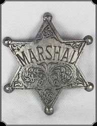Badge - Marshal - 6 Pt. Star
